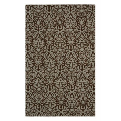 Peachtree Corners Tatham Hand-Hooked Brown/Beige Area Rug Rug Size: Rectangle 53 x 83