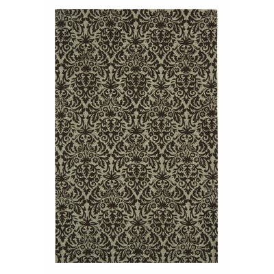 Thomsen Hand-Hooked Green/Brown Area Rug Rug Size: Rectangle 53 x 83