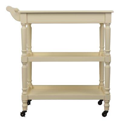Georgianna Bar Cart Frame Color: White