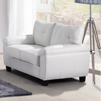 Childress Loveseat Upholstery: White
