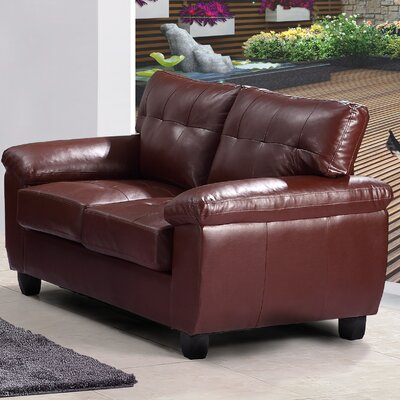 Childress Loveseat Upholstery: Brown