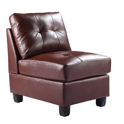 Childress Slipper Chair Upholstery: Brown