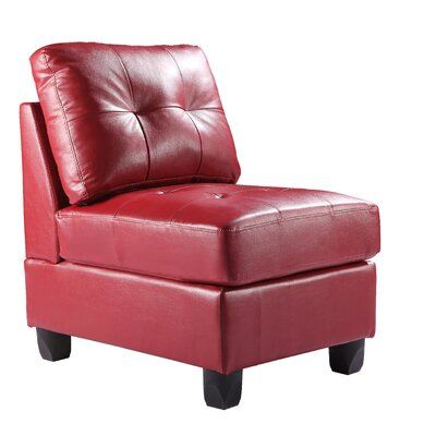 Oregon Slipper Chair Color: Red
