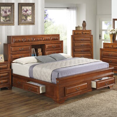 Edwardsville Storage Platform Bed Size: Full, Color: Cherry