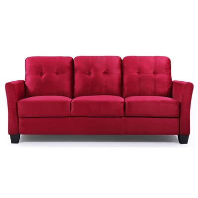 Fairborn Sofa Upholstery: Red