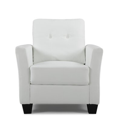 Fairborn Armchair Upholstery: White