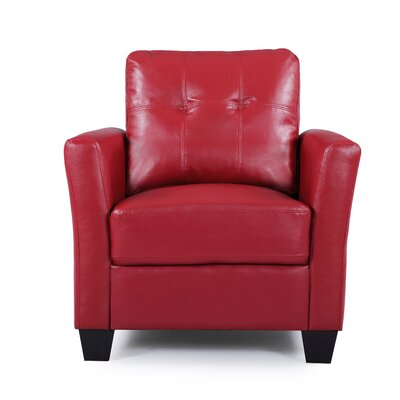 Fairborn Armchair Upholstery: Red