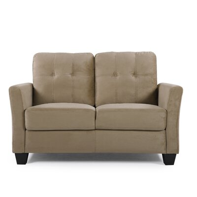 Fairborn Loveseat Upholstery: Mocha