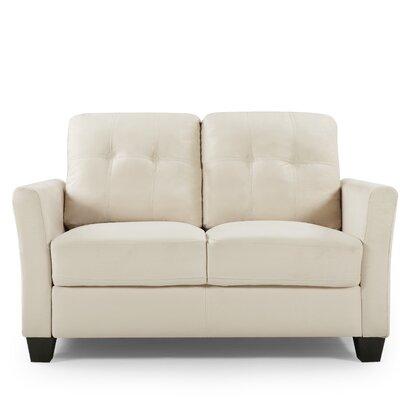Fairborn Loveseat Upholstery: Beige