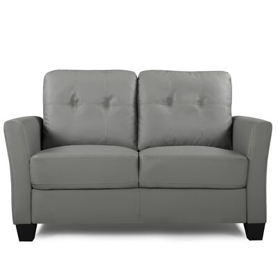 Fairborn Loveseat Upholstery: Gray