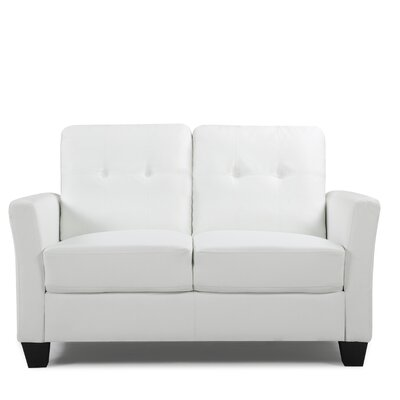 Fairborn Loveseat Upholstery: White