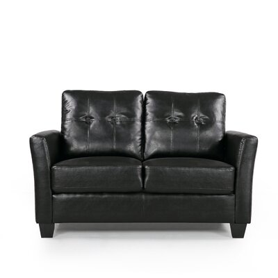 Fairborn Loveseat Upholstery: Black
