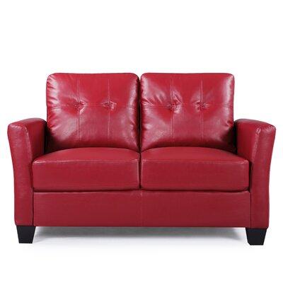 Fairborn Loveseat Upholstery: Red
