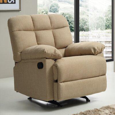 Deerwood Rocker Recliner Upholstery Color: Beige
