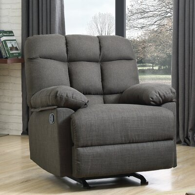 Deerwood Rocker Recliner Upholstery Color: Ash Black