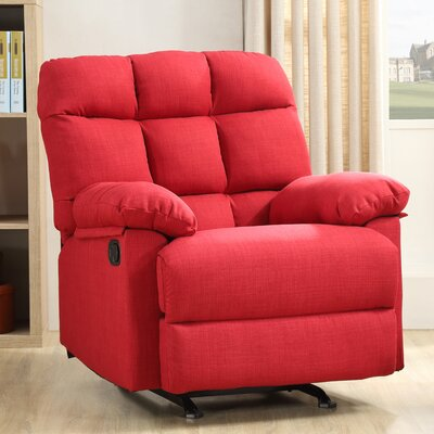 Mcneely Manual Rocker Recliner Upholstery Color: Cherry Red
