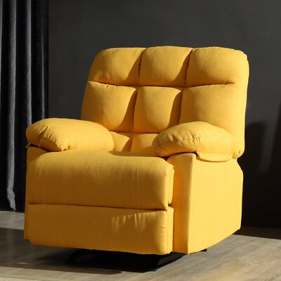 Mcneely Manual Rocker Recliner Upholstery Color: Yellow