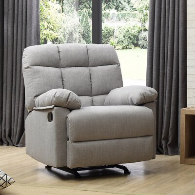 Mcneely Manual Rocker Recliner Upholstery Color: Gray