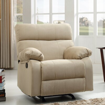 Mcneely Manual Rocker Recliner Upholstery Color: Mushroom