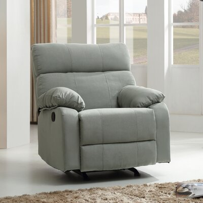 Mcneely Manual Rocker Recliner Upholstery Color: Aqua