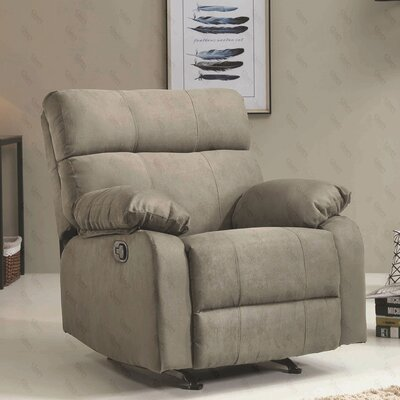Deerwood Rocker Recliner Upholstery Color: Gray