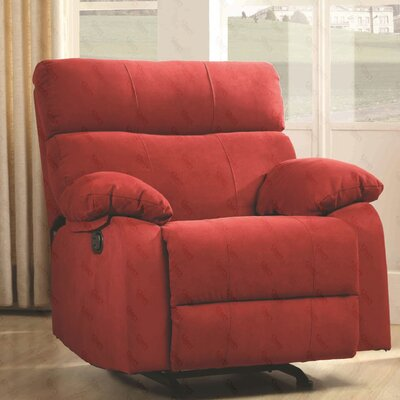 Mcneely Manual Rocker Recliner Upholstery Color: Red