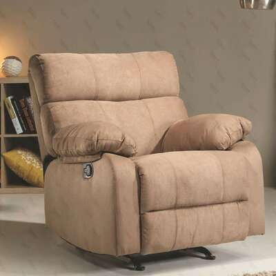 Mcneely Manual Rocker Recliner Upholstery Color: Cocoa