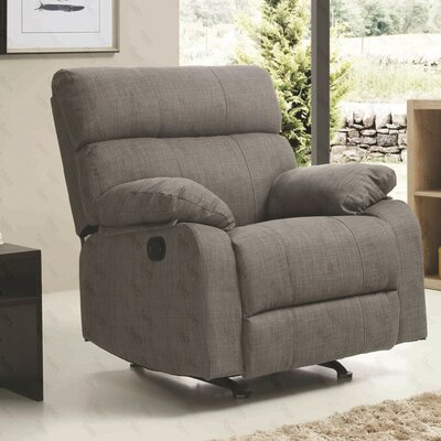 Mcneely Manual Rocker Recliner Upholstery Color: Steel