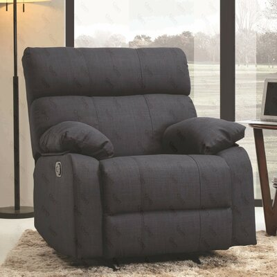 Mcneely Manual Rocker Recliner Upholstery Color: Denim
