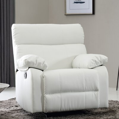 Deerwood Rocker Recliner Leather Color: White