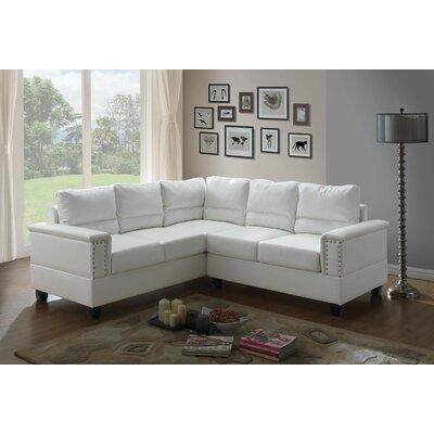 Grantfork Sectional Upholstery: White