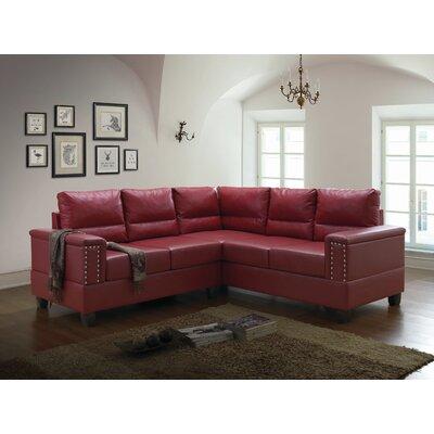 Grantfork Sectional Upholstery: Red