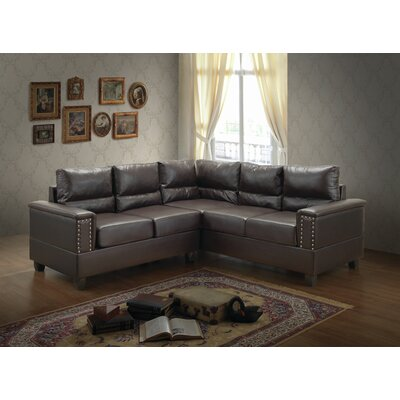 Grantfork Sectional Upholstery: Chocolate