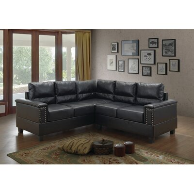 Grantfork Sectional Upholstery: Black