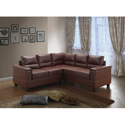 Grantfork Sectional Upholstery: Brown