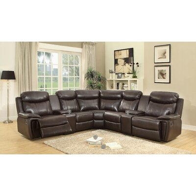 Southridge Reclining Sectional Upholstery: Dark Brown