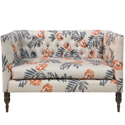 Bayer Mod Floral Tufted Chaise Lounge
