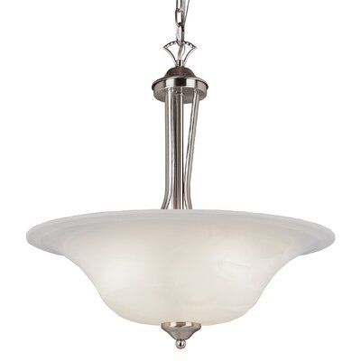 Ellicottville 3-Light Bowl Pendant Finish: Nickel