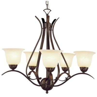 Ellicottville 5-Light Shaded Chandelier Finish: Bronze