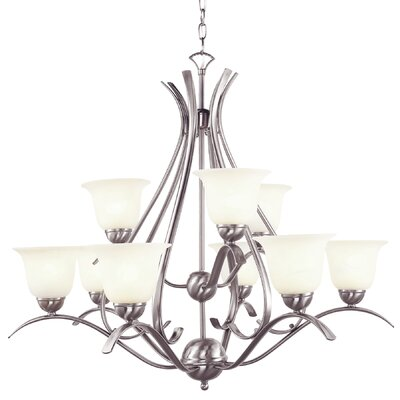 Ellicottville 9-Light Shaded Chandelier Finish: Nickel
