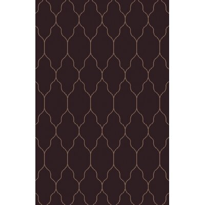 Moreton Eggplant/Olive Geometric Area Rug Rug Size: Rectangle 8 x 11