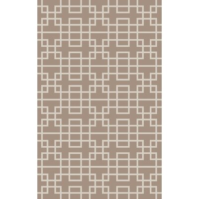 Ontario Taupe Area Rug Rug Size: 8 x 11