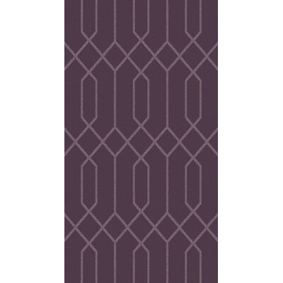 Rarden Eggplant Area Rug Rug Size: Rectangle 8 x 10