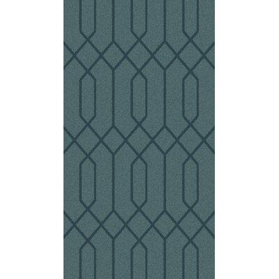 Rarden Teal Area Rug Rug Size: 6 x 9