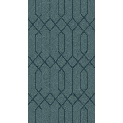 Rarden Teal Area Rug Rug Size: 2 x 3