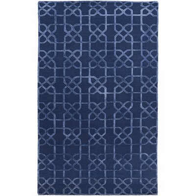 Rarden Navy Area Rug Rug Size: Rectangle 6 x 9