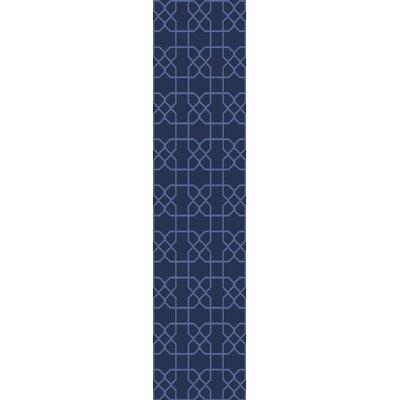Rarden Navy Area Rug Rug Size: Runner 26 x 8