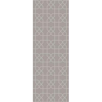 Rarden Gray Area Rug Rug Size: Runner 26 x 8