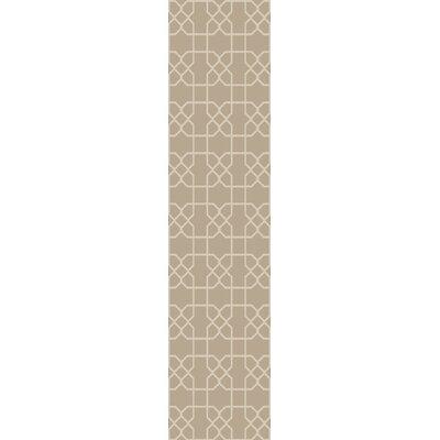 Rarden Ivory Area Rug Rug Size: Runner 26 x 8
