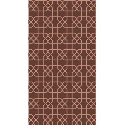 Rarden Mocha Area Rug Rug Size: 2 x 3